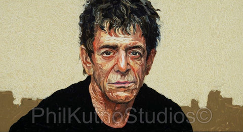 Lou Reed Oil Painting