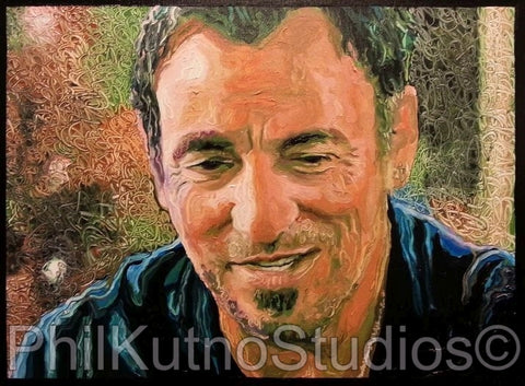 Bruce Springsteen Oil Painting
