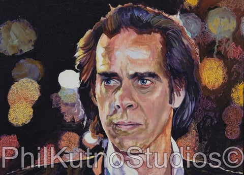 Nick Cave Oil Painting
