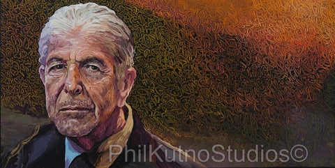 Leonard Cohen Oil Painting