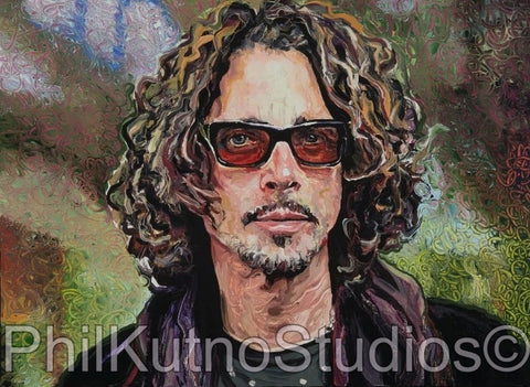 Chris Cornell Oil Painting