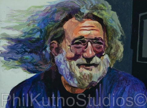 Jerry Garcia Acrylic Painting