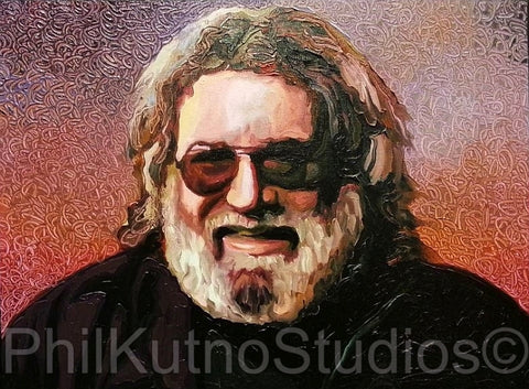 Jerry Garcia Oil Painting