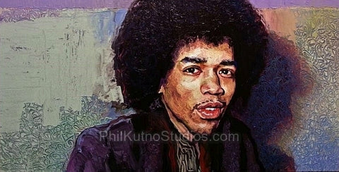 Jimi Hendrix Oil Painting #2