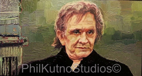 Johnny Cash Oil Painting