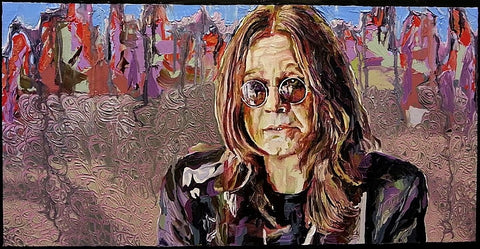 Ozzy Osbourne Oil Painting