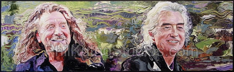 Robert Plant & Jimmy Page Painting #1