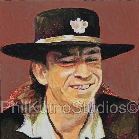 Stevie Ray Vaughan - SRV - Oil Painting