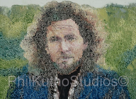 Eddie Vedder Oil Painting