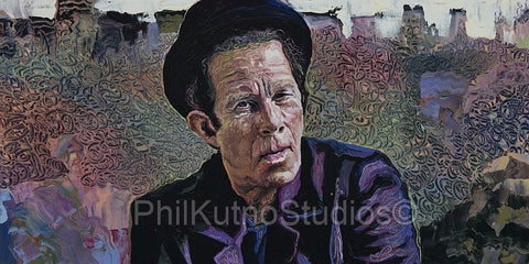 Tom Waits Oil Painting