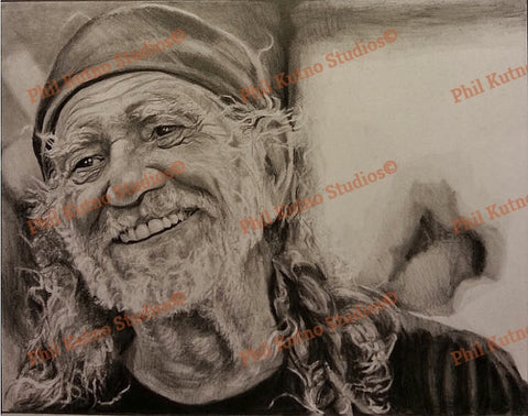Willie Nelson drawing