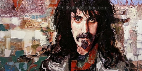 Frank Zappa Oil Painting