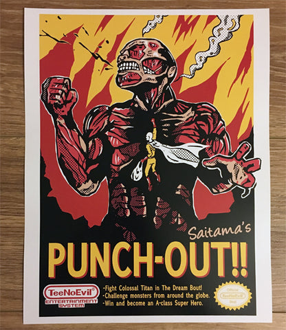 Punch Out Art Print