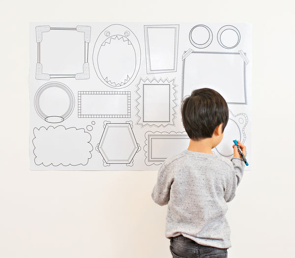 Erasable Frames Wall Decal
