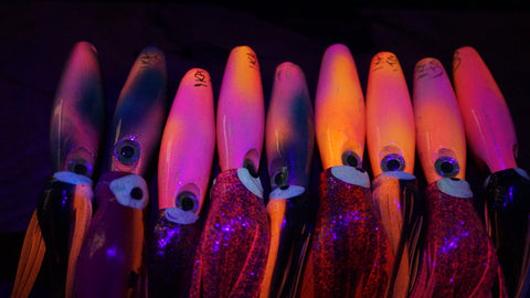 Ika Glow/UV Skirted Lures.