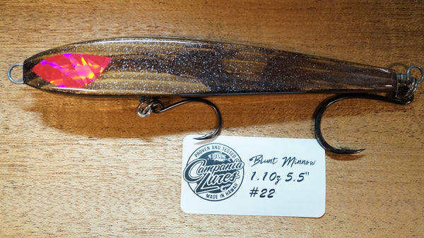 "5.5"" Blunt Minnow Wood Lure 1oz Reference #22"