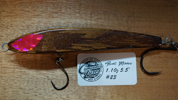 "5.5"" Blunt Minnow Wood Lure 1oz Reference #23"