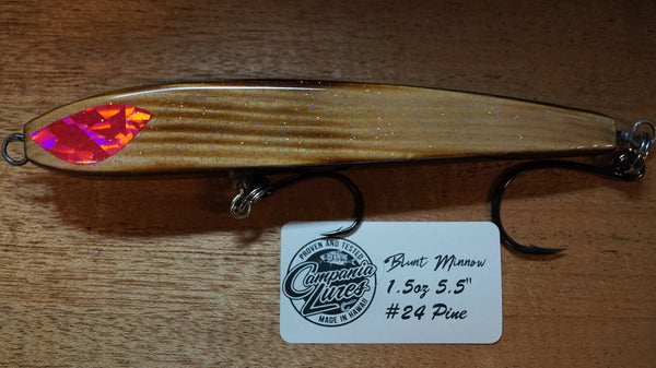"5.5"" Blunt Minnow Wood Lure 1.5oz Reference #24"