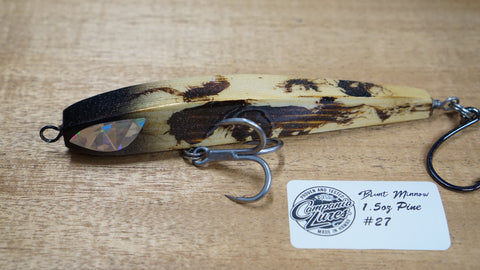 "5.5"" Blunt Minnow Wood Lure 1.5oz Reference #27"