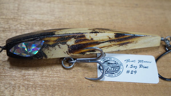 "5.5"" Blunt Minnow Wood Lure 1.5oz Reference #29"