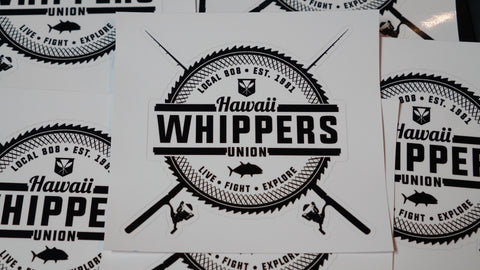 "Hawaii Whippers Union Sticker. 5"" x 5"""