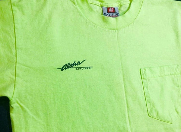 Retro Aloha Airlines Safety Green Shirt.