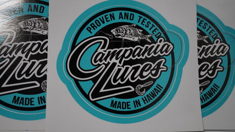"Campania Lures Sticker 5"" x 5"""