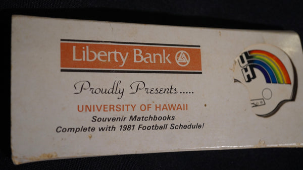 1981 Liberty Bank Souvenir Matchbooks with 81' schedule.