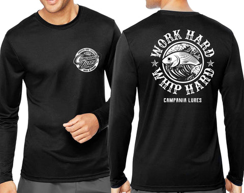 NEW Campania Lures Whip HARD Dri Fit Long Sleeve.