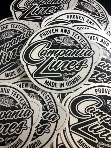 "3""x3"" Campania Lures Stickers"