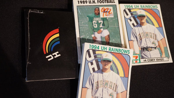 80's and 90's UH Rainbow Baseball and Football Cards.