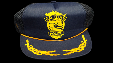 Halalulu Police Dept printed on Vintage Snapback. Buy it now for $30 or place a Bid!