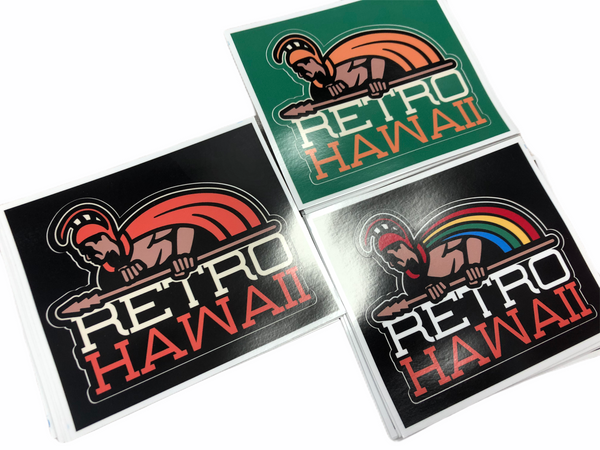 Retro Hawaii Stickers. 4""