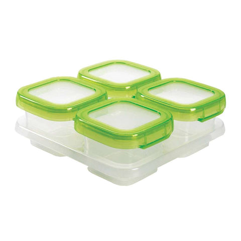 Baby Blocks Freezer Storage Containers 4oz x 4