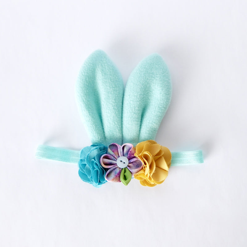Style Me Little Bunny Ears Fleece Hairpiece – Spring 2019 | Soft Elastic | 6-12 Months