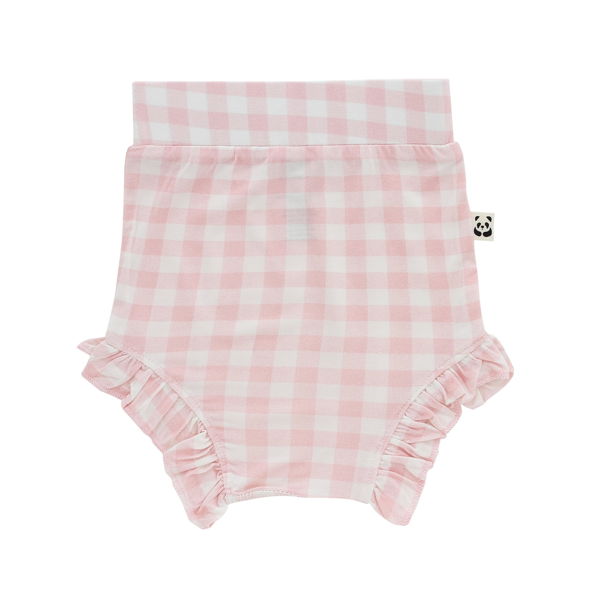 Bamberry Baby Girl Ruffled Bloomer Pink Gingham