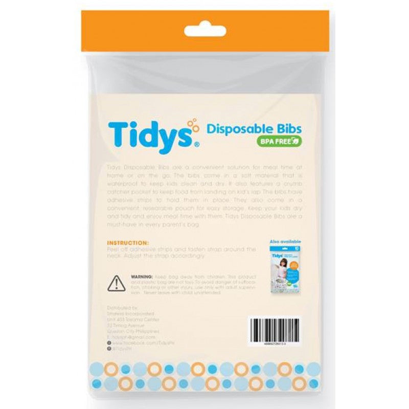 Tidys Disposable Bibs 20s