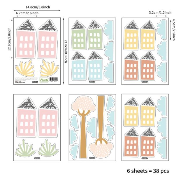 Juju Nursery Wall Decals Nursery Stickers - Buildings