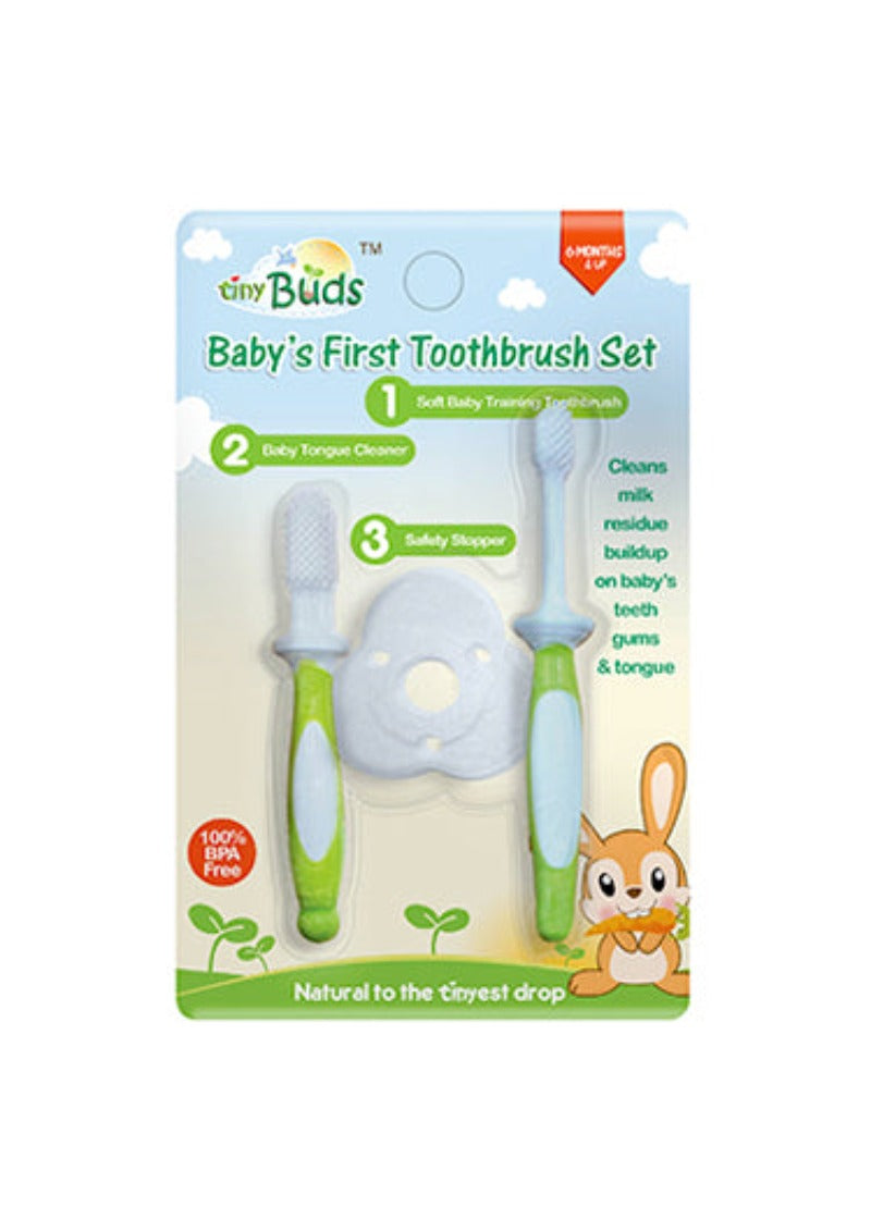 Tiny Buds Baby's 1st Toothbrush Set