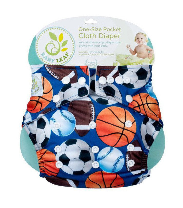 Baby Leaf Ball Craze One-Size Cloth Diapers