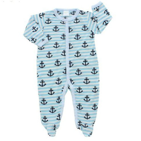 Bamberry Baby Footed Romper Anchor