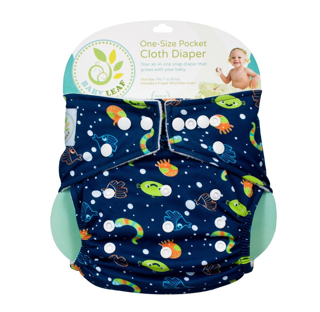 Blue Ocean One-Size Cloth Diapers