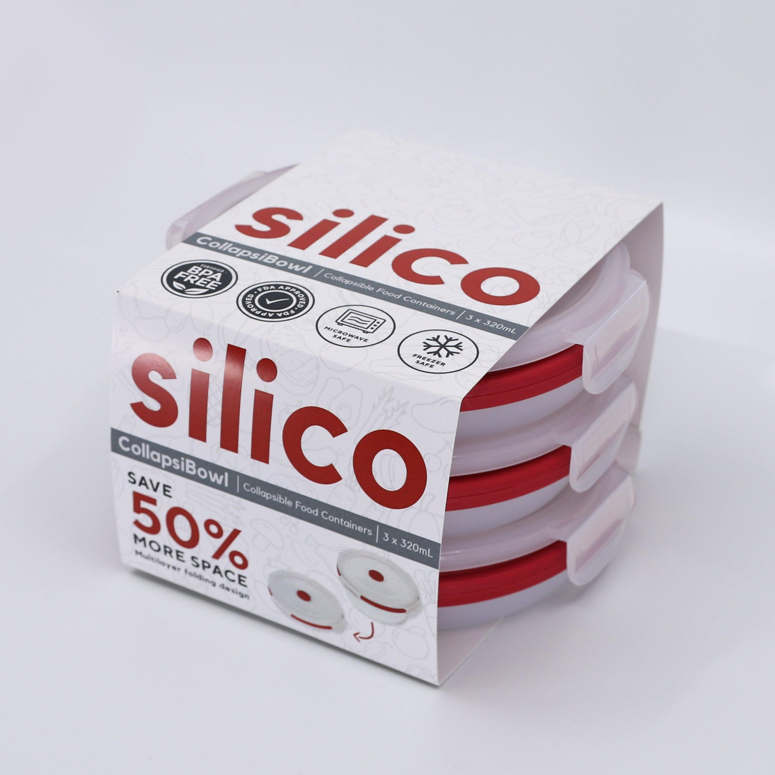 Silico CollapsiBowl - Small Set of 3 (320ml)