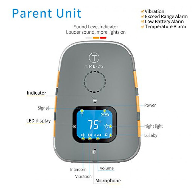 Timeflys Crown Baby Audio Monitor & Pager