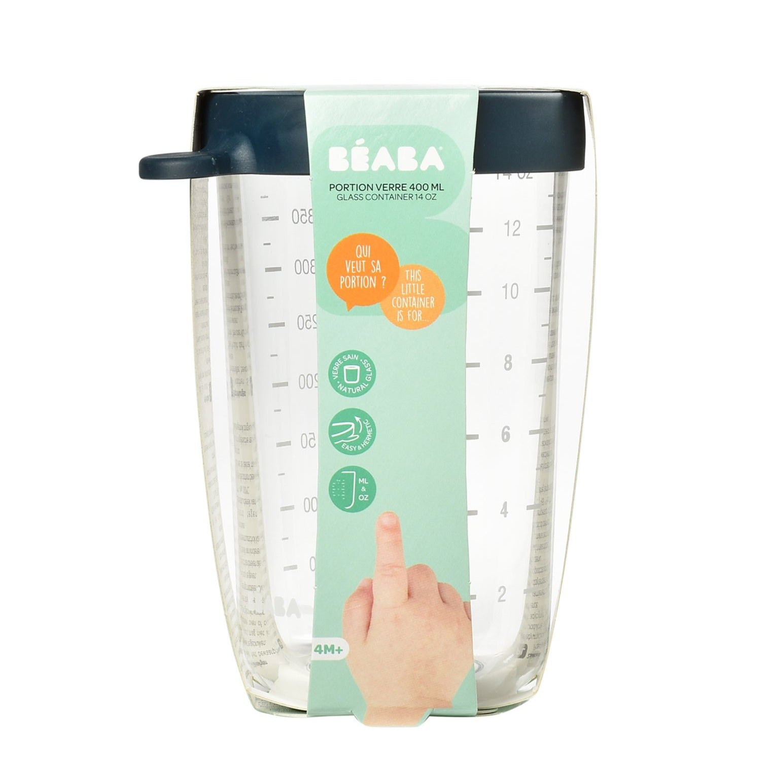 Beaba Superior Glass Conservation Jar 400ml