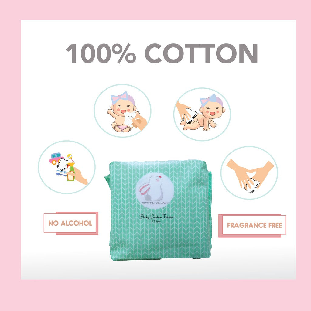 Cottontail Baby Tissue 3 x 100's