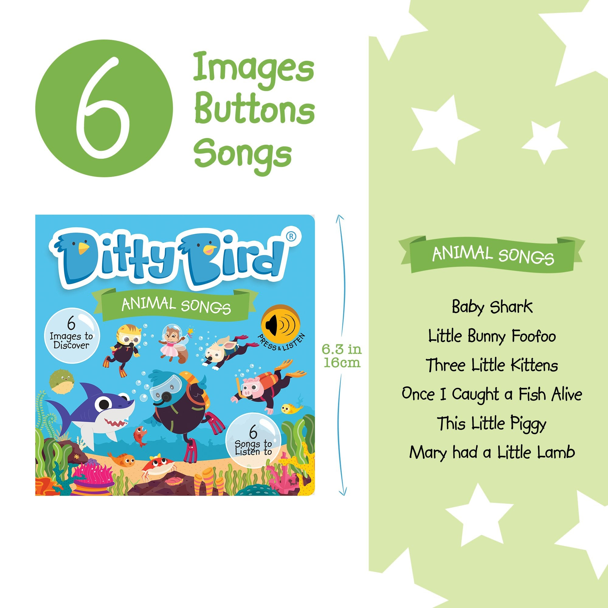 Ditty Bird Musical Books | Animal Songs