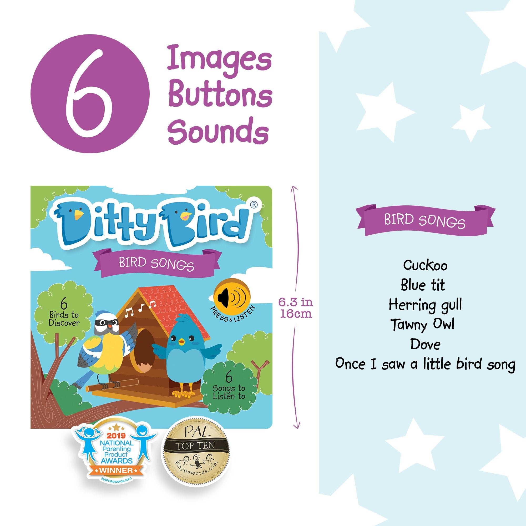 Ditty Bird Musical Books | Bird Songs