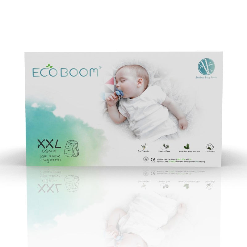 Eco Boom Biodegradable Bamboo Eco Friendly Disposable Pull Ups Diapers