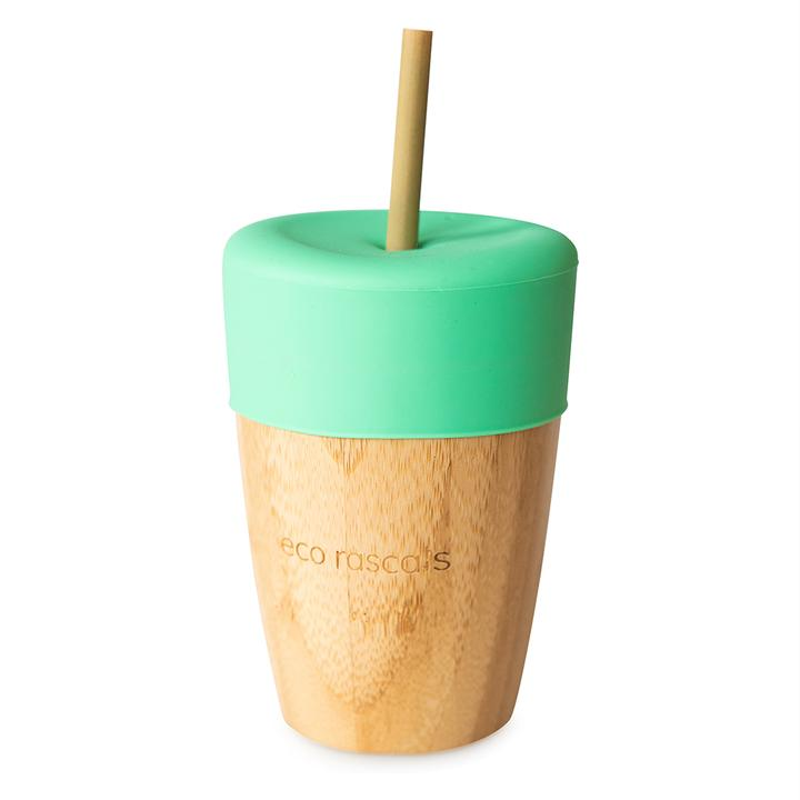 Eco Rascals Bamboo Cup with 2 straw 210ml